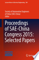 Proceedings of SAE China Congress 2015  Selected Papers