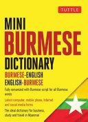 Tuttle Mini Burmese Dictionary