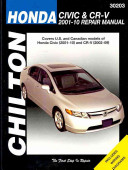 Chilton s Honda Civic   CR V  2001 10 Repair Manual