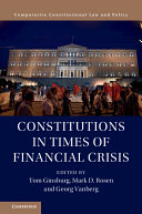 Constitutions In Times Of Financial Crisis
