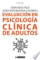 Evaluaci N En Psicolog A Cl Nica De Adultos