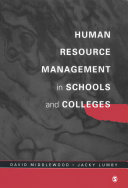 Human Resource Management in Schools and Colleges