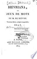 illustration Biévriana, ou Jeux de mots de M. de Bièvre