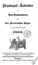 Provinzial-Handbuch für Neu-Vorpommern und das fürstenthum Rügen
