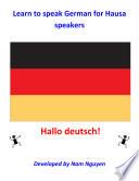 Learn to Speak German for Hausa Speakers