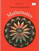 Modern Curriculum Press Mathematics