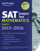 Kaplan SAT Subject Test Mathematics Level 1 2015 2016