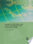 Women s History and Local Community in Postwar Japan