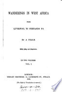 Wanderings in West Africa from Liverpool to Fernando Po Book PDF