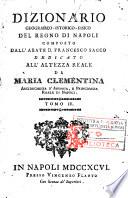 Dizionario geografico istorico fisico del Regno di Napoli composto dall abate d  Francesco Sacco     Tomo 1    4