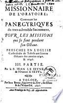 Le missionnaire de l'oratoire