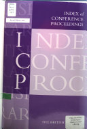 Index of Conference Proceedings Book PDF