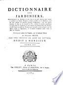 Dictionnaire des jardiniers ... :