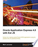 Oracle Application Express 4 0 with Ext JS