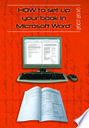 How to Set Up Your Book in Microsoft Word