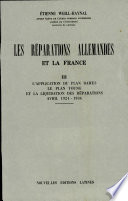 Les Reparations Allemandes Et la France Iii  avril 1924 1936