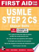First Aid for the USMLE Step 2 CS  Fourth Edition