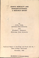 Technical Report in Sociology and Rural Life