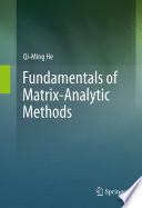 Fundamentals of Matrix-Analytic Methods