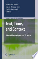 Text  Time  and Context