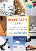 Hospitality Law  Managing Legal Issues in the Hospitality Industry  4th Edition