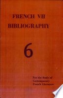 French Twentieth Bibliography Most Important Tools For Research In Modern And