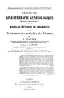 Traité de kinèsithérapie gynécologique (massage et gymnastique)