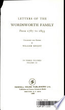 Letters of the Wordsworth Family