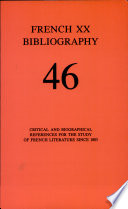 French Twentieth Bibliography : important tools for research in modern and...
