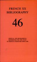French Twentieth Bibliography Book