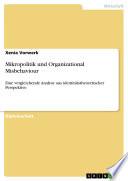 Mikropolitik Und Organizational Misbehaviour book