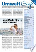 Zeitschrift UmweltBriefe Heft Oktober 2016