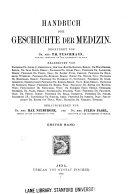 Handbuch der Geschichte der Medizin