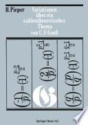 Variationen über ein zahlentheoretisches Thema von Carl Friedrich Gauss