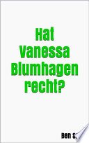 Hat Vanessa Blumhagen recht?