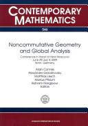 Noncommutative Geometry and Global Analysis