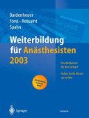 Weiterbildung für Anästhesisten 2003