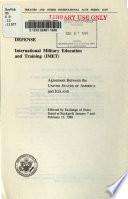 Defense, International Military Education and Training (IMET)