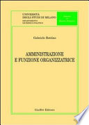 Amministrazione e funzione organizzatrice