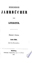 Heidelberger Jahrb Cher Der Literatur book