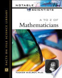 A to Z of Mathematicians