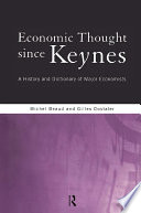 Economic Thought Since Keynes book