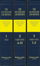 all england law reports consolidated tables and index 1936 2015