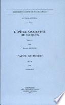 L'Épître apocryphe de Jacques (NH I,2)