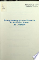 Bioengineering Systems Research in the United States
