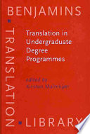 Translation In Undergraduate Degree Programmes
