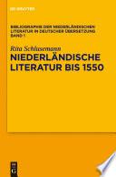 Niederländische Literatur bis 1550