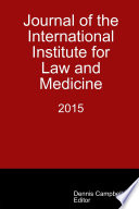 Journal Of The International Institute For Law And Medicine 2015