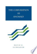 The Corporation as Anomaly PDF