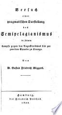 Versuch einer pragmatischen darstellung des Augustinismus und Pelagianismus